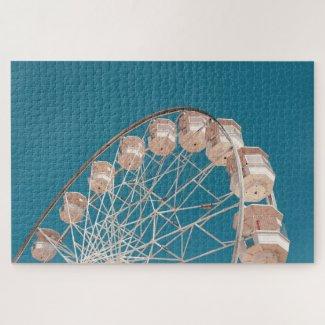 Ferris Wheel & Blue Sky Jigsaw Puzzle