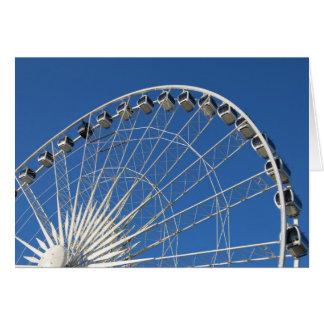 Ferris Wheel Cars Note Card