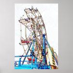 Ferris Wheel-Chalk Outline