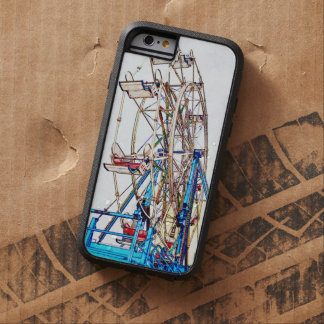 Ferris Wheel-Chalk Outline by Shirley Taylor Tough Xtreme iPhone 6 Case