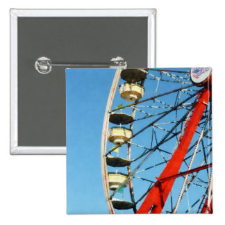 Ferris Wheel Closeup 15 Cm Square Badge