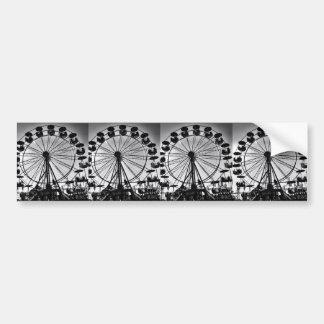 Ferris Wheel in Black and White Photo Gifts Bumper Sticker