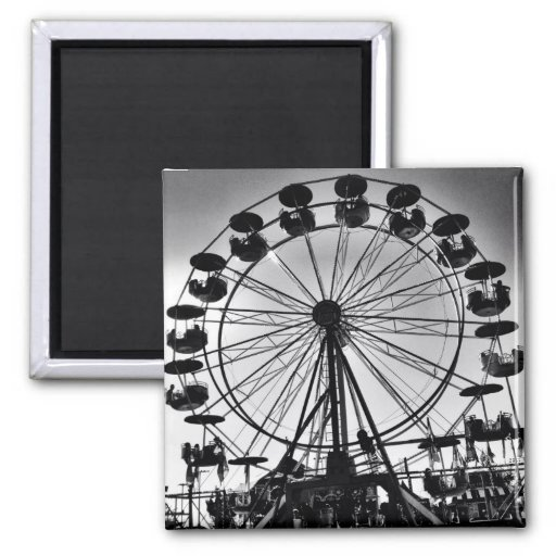Ferris Wheel in Black and White Photo Gifts Refrigerator Magnet