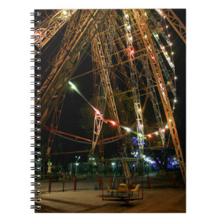 Ferris Wheel in Turkmenistan: Cool Vintage Photo Spiral Notebook