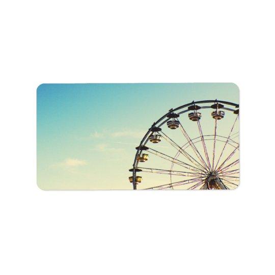 Ferris Wheel Label Address Label
