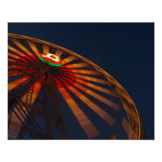 Ferris wheel of fair poster