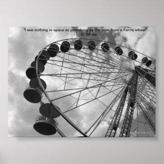 Ferris Wheel poster w/quote
