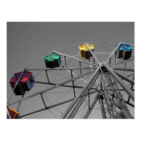Ferris Wheel(selective colour) postcard