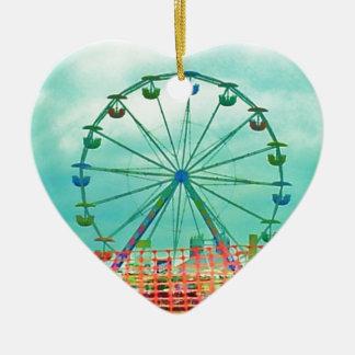 Ferris Wheel Spring Fest Misquamicut Beach Christmas Ornament