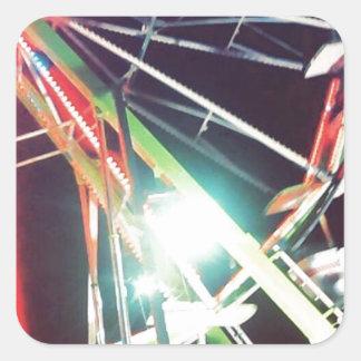 Ferris Wheel Square Sticker