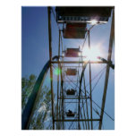 Ferris Wheel & Sun Flare Posters