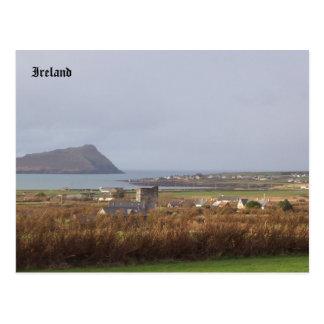 Ferriter's Castle, Muiríoch, Kerry Ireland Postcard