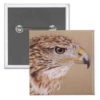 Ferruginous Hawk 15 Cm Square Badge