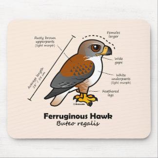 Ferruginous Hawk Statistics Mouse Mat