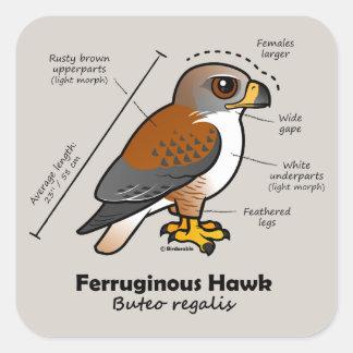 Ferruginous Hawk Statistics Square Sticker