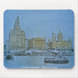 Ferry Across The Mersey Mousepad Colin Carr-Nall