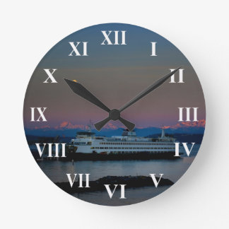 Ferry and moon wall clock