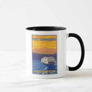 Ferry and Mountains - Port Townsend, Washington Mug