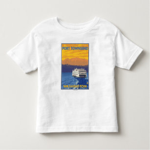 Ferry and Mountains - Port Townsend, Washington Toddler T-Shirt