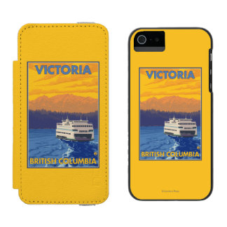 Ferry and Mountains - Victoria, BC Canada Incipio Watson™ iPhone 5 Wallet Case