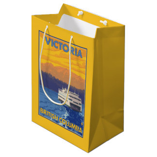 Ferry and Mountains - Victoria, BC Canada Medium Gift Bag