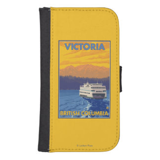 Ferry and Mountains - Victoria, BC Canada Samsung S4 Wallet Case