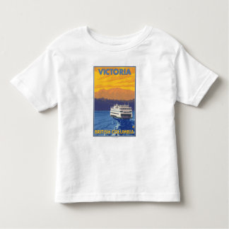 Ferry and Mountains - Victoria, BC Canada T-shirts