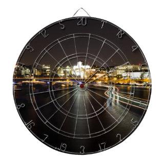Ferry at night dartboard