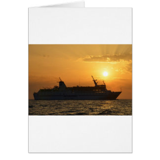Ferry At Sunset Card