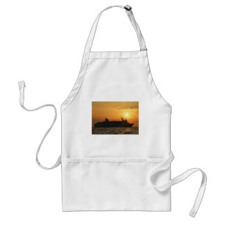 Ferry At Sunset Standard Apron