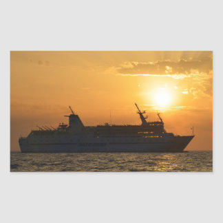 Ferry At Sunset Stickers