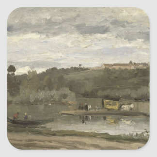 Ferry at Varenne-Saint-Hilaire, 1864 Stickers