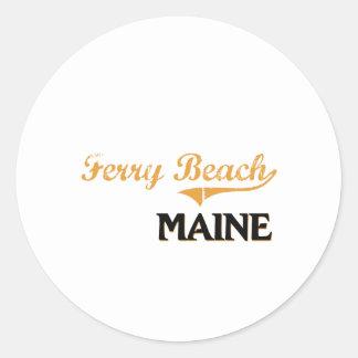 Ferry Beach Maine Classic Round Sticker