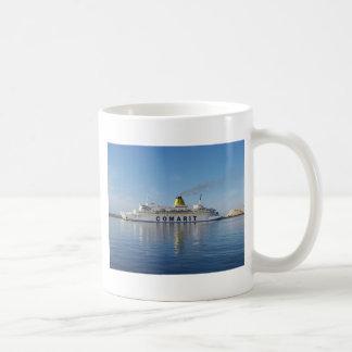 Ferry Berkane Leaving Harbor Basic White Mug