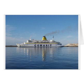 Ferry Berkane Leaving Harbor Greeting Card