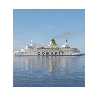 Ferry Berkane Leaving Harbor Notepad