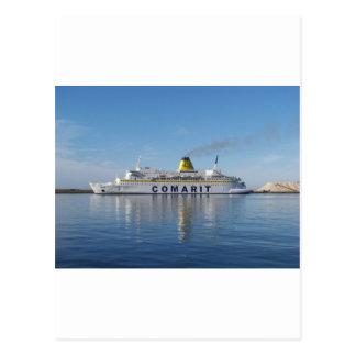 Ferry Berkane Leaving Harbor Postcard