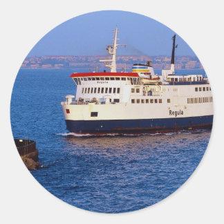 Ferry between Sweden and Denmark, Helsingborg Round Sticker