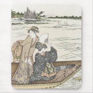Ferry Boat on the Sumida River, Kiyonaga, 1780s Mouse Pad
