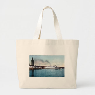 Ferry Boat Tamalpais, San Francisco Bay Jumbo Tote Bag