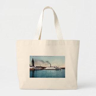 Ferry Boat Tamalpais San Francisco Bay Tote Bags