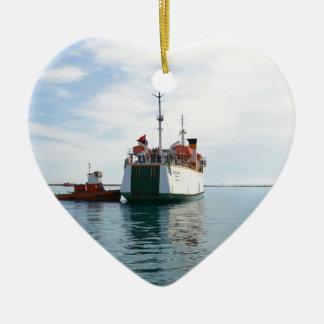 Ferry Bozcaada Ceramic Heart Decoration