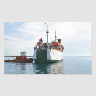 Ferry Bozcaada Rectangular Sticker