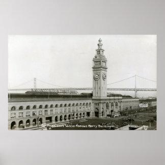 Ferry Building, San Francisco Vintage Print