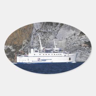 Ferry Carloforte Oval Sticker