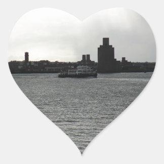 Ferry Cross the Mersey Heart Sticker