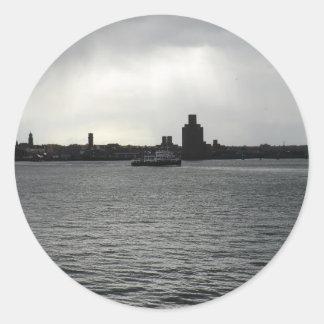 Ferry Cross the Mersey Round Sticker