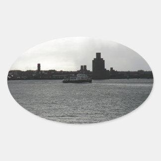 Ferry Cross the Mersey Oval Sticker