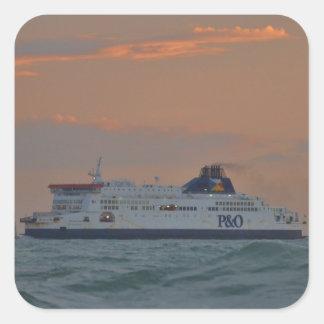 Ferry Entering Dover Square Sticker