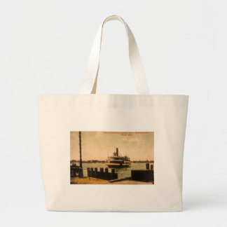 Ferry for Windsor, Canada from Detroit, Michigan Jumbo Tote Bag